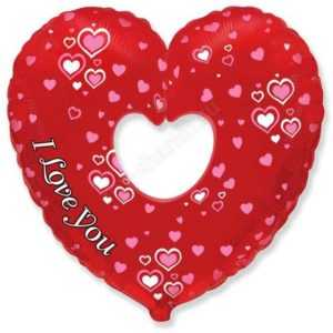 Фигура, Сердце в сердце Бублик, 89см