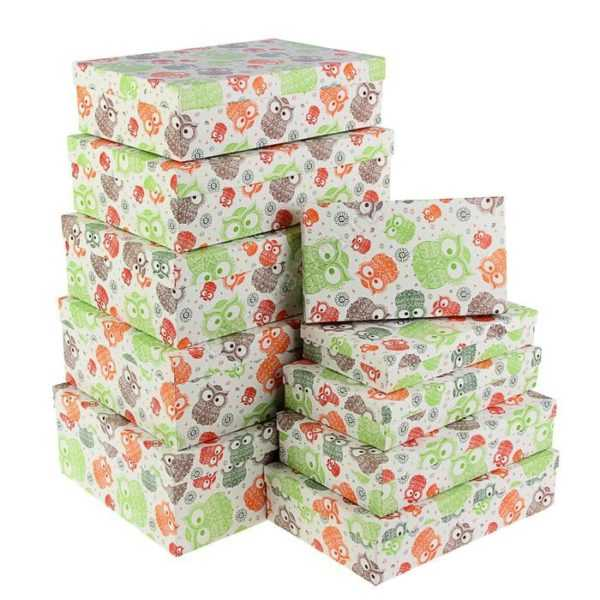 "Коробка ""Совы"" 36,5 х 26,5 х 12 - 23 х 13 х 3 см"