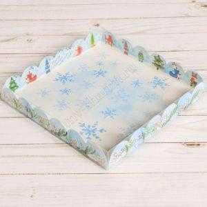 """Коробочка для шоколада """"Снежинка"""" , 21 х 21 х 3 см"""