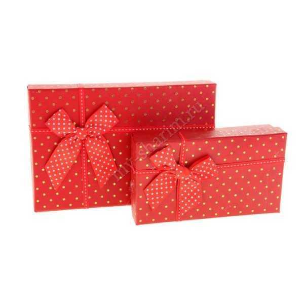 """Коробка """"Горошек"""" 21 х 14 х 4,5 - 17 х 9,8 х 4,5 см"""