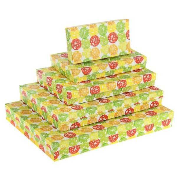 """Коробка """"Шары"""", 40 х 30 х 5 - 20 х 10 х 3 см"""