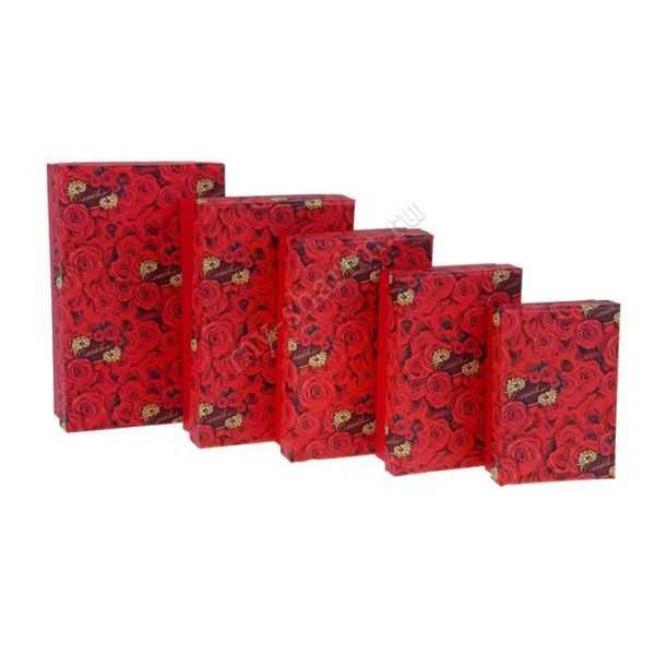 """Коробки """"Розы"""", 20,5 х 13 х 6 - 13 х 9 х 4 см"""