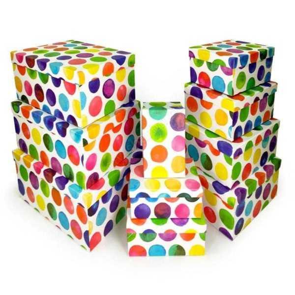 Коробки Разноцветные Круги