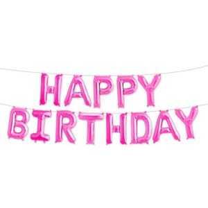 "Надпись ""Happy Birthday"", Розовый"