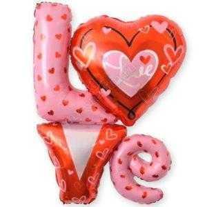 """Фигура, Надпись """"LOVE"""" с сердечками"""