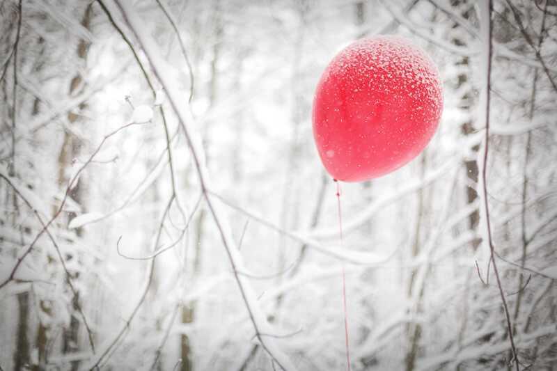 Гелевые шарики зимой
