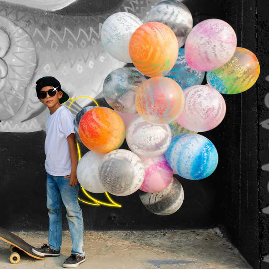 Необычные идеи для фотосессии с воздушными шарами