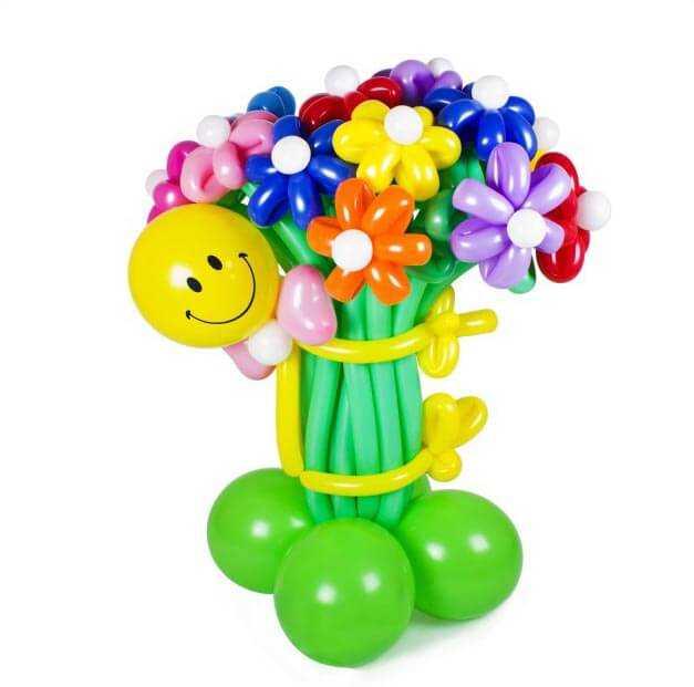 Как сделать цветок из шаров своими руками дома?