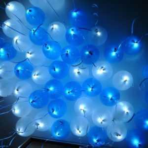 Светящийся шар голубой и синий