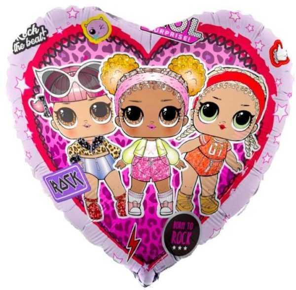 Сердце, Кукла ЛОЛ (LOL), Стильные подружки, Розовый, 46см