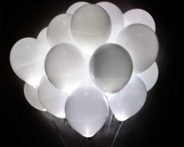 Светящийся шар белый