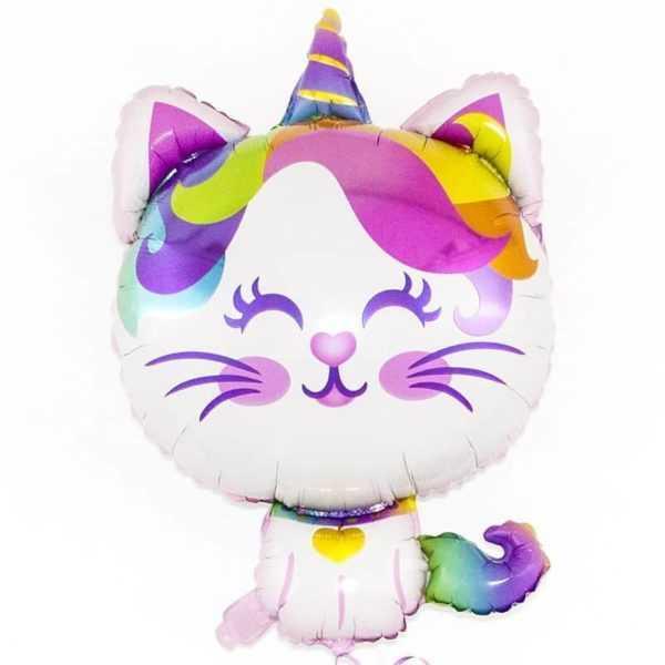 Котенок-радужный единорог, 91 см