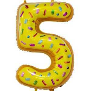 Цифра, 5, Пончик, 86см, 1шт.