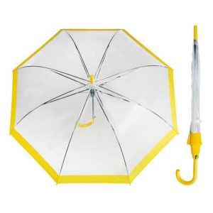 Зонт полуавтоматический цвет жёлтый
