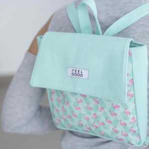 Рюкзак молодёжный, отдел на молнии, цвет мятный