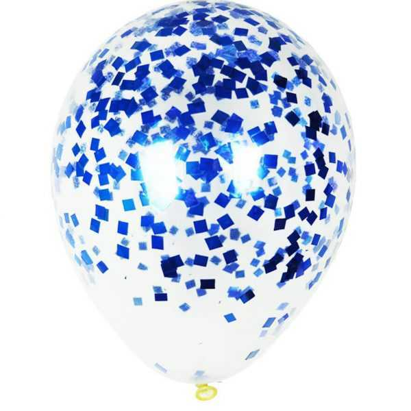 Шар с синим конфетти